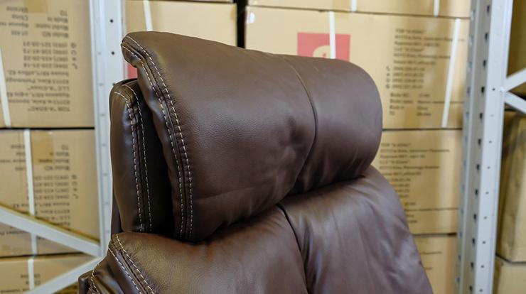 Кресло для руководителя Аризона Soft CH MB, коричн. АКЛАС - фото 6
