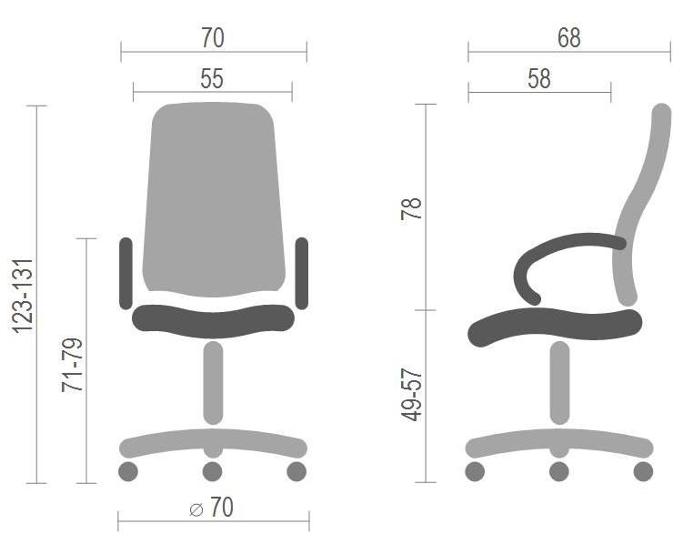 Кресло для руководителя Аризона Soft CH MB, коричн. АКЛАС - фото 7