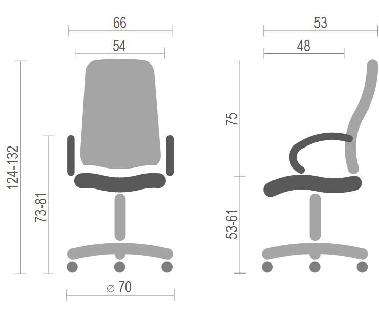 Кресло для руководителя Бадалона CH MB, беж. АКЛАС - фото 8