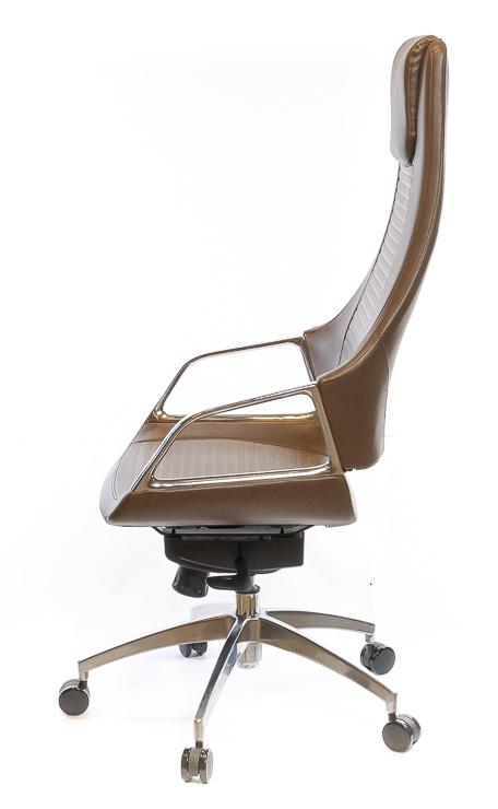 Кресло для руководителя Бристон AL MB, коричн. АКЛАС - фото 3