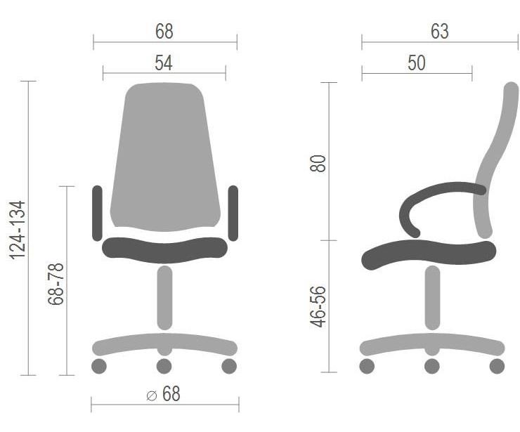 Кресло для руководителя Бристон AL MB, коричн. АКЛАС - фото 4