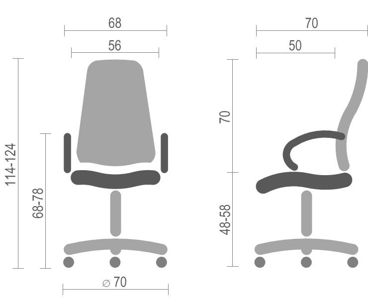 Кресло для руководителя Валенсия CH MB, коричн. АКЛАС - фото 4