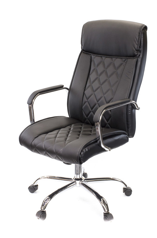 Кресло для руководителя Виконт CH ANF, черн.