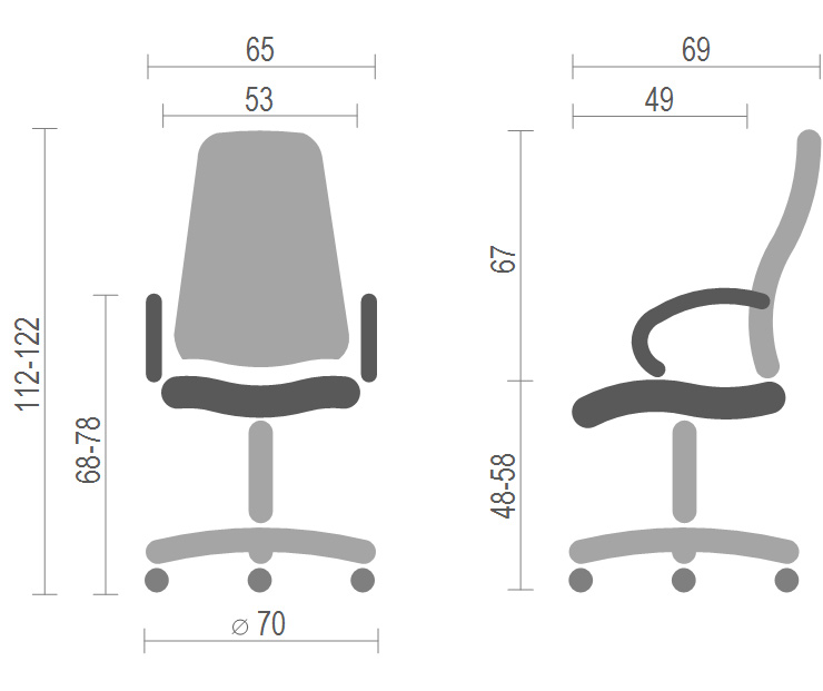 Кресло для руководителя Виконт CH ANF, черн. АКЛАС - фото 4