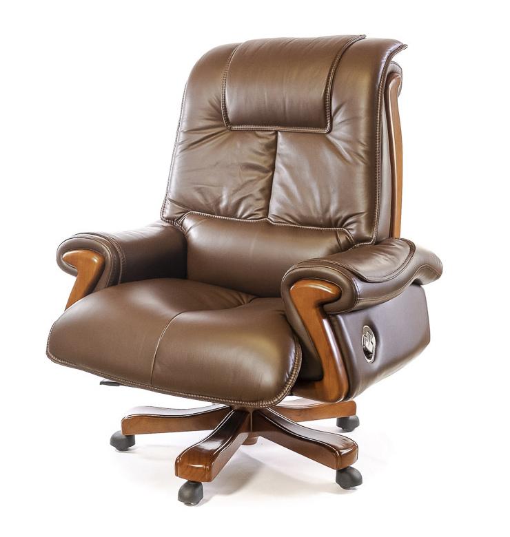 Кресло для руководителя Вольтер EX RL, коричн. АКЛАС - фото 1
