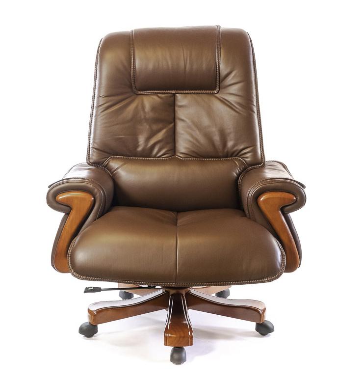 Кресло для руководителя Вольтер EX RL, коричн. АКЛАС - фото 2