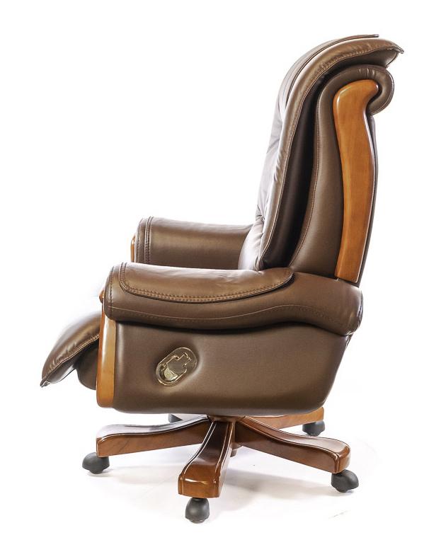 Кресло для руководителя Вольтер EX RL, коричн. АКЛАС - фото 3