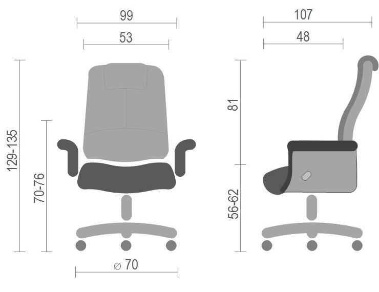 Кресло для руководителя Вольтер EX RL, коричн. АКЛАС - фото 7