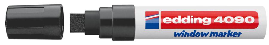 Маркер для окон клиновидное острие 4090 4-15мм., черн.