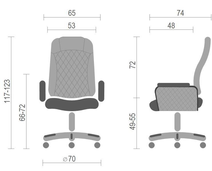 Кресло для руководителя Ридо CH SR, черн. АКЛАС - фото 6