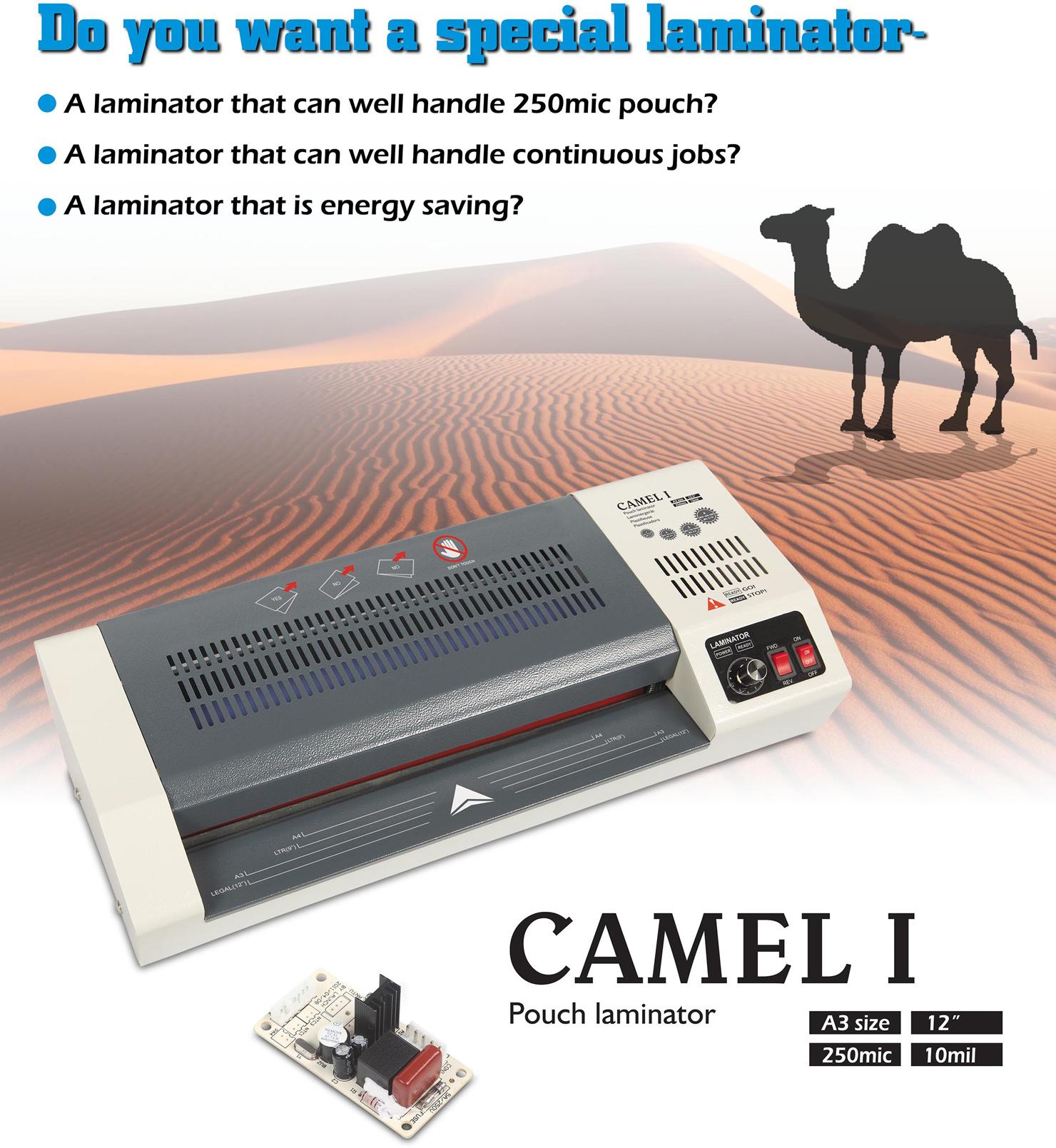 Ламинатор A3 CAMEL 1, плотность пленки 250мкм. D&Art - фото 4