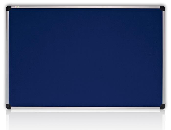 Доска текстильная S-line 100*180см., алюминиевая рамка, син. ABC - фото 1