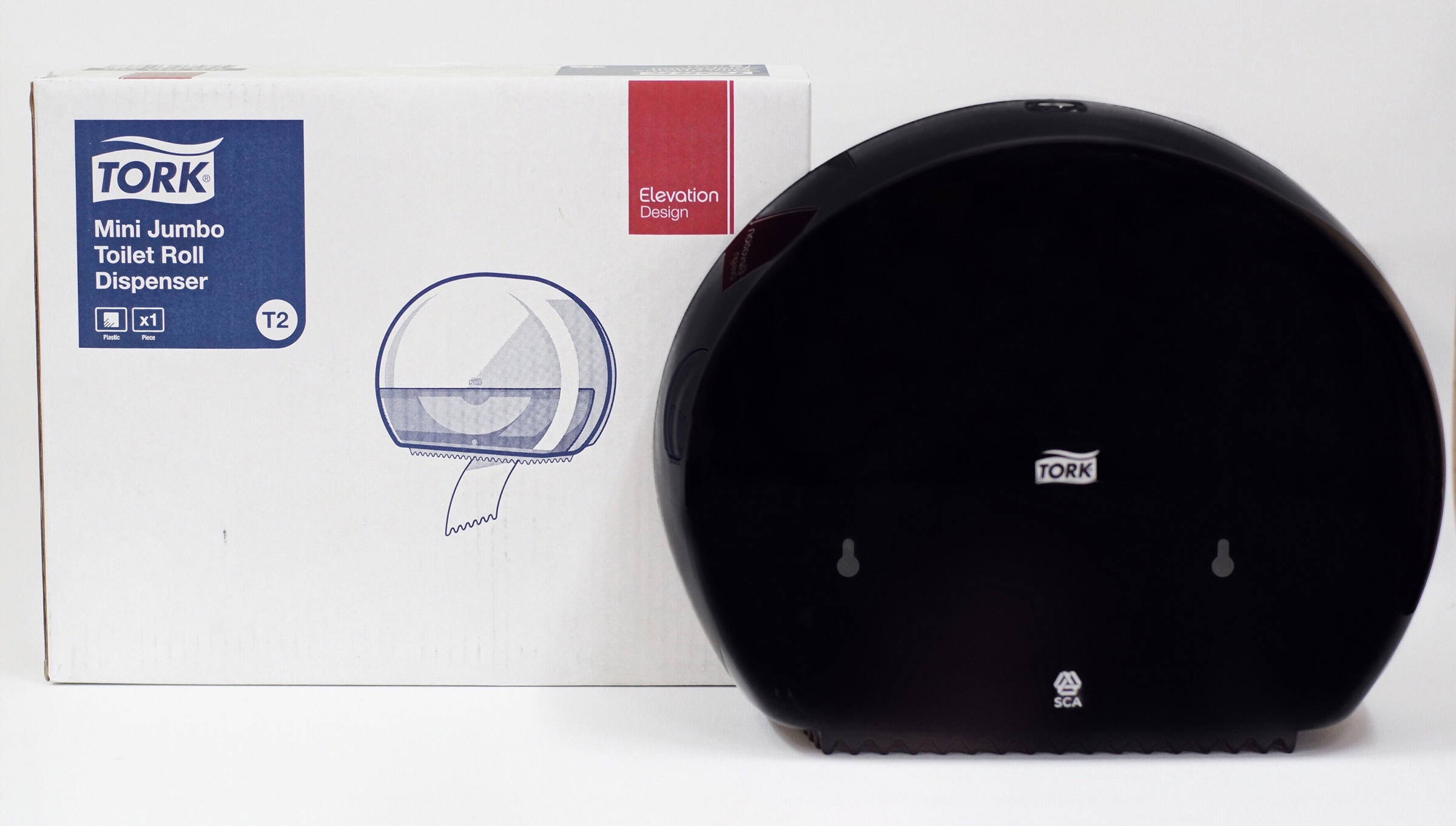 Диспенсер для туалетной бумаги в рулонах Джамбо,Elevation, пластик, (T2), черн. Tork - фото 5