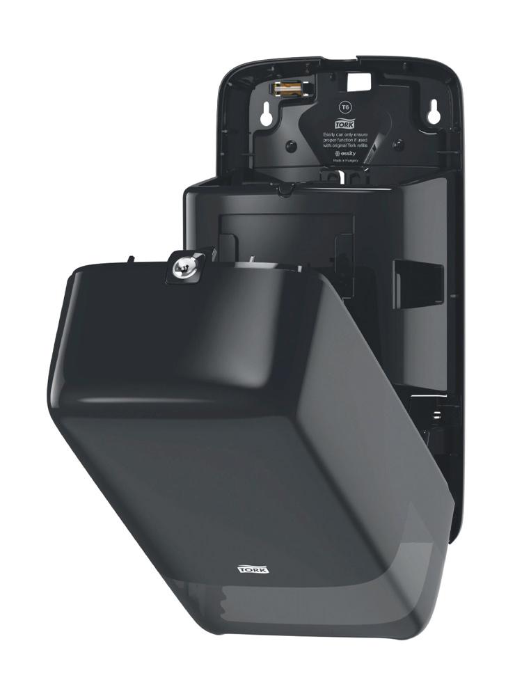 Диспенсер для туалетной бумаги в мини рулонах Auto Shift, Elevation,  пластик, (T6), черн. Tork - фото 3