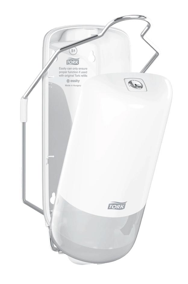 Диспенсер для жидкого мыла с локтевым приводом Elevation, пластик , (S1), бел. Tork - фото 2
