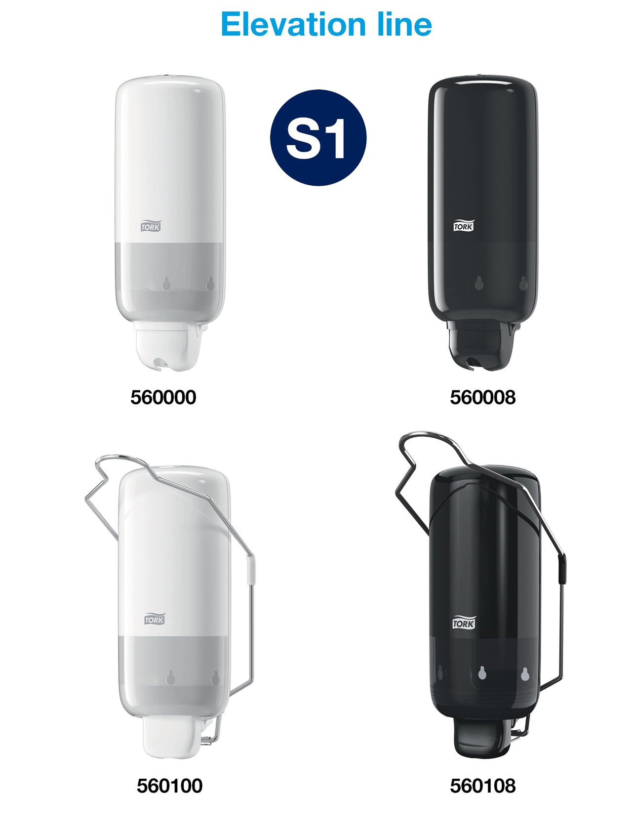 Диспенсер для жидкого мыла с локтевым приводом Elevation, пластик , (S1), бел. Tork - фото 6