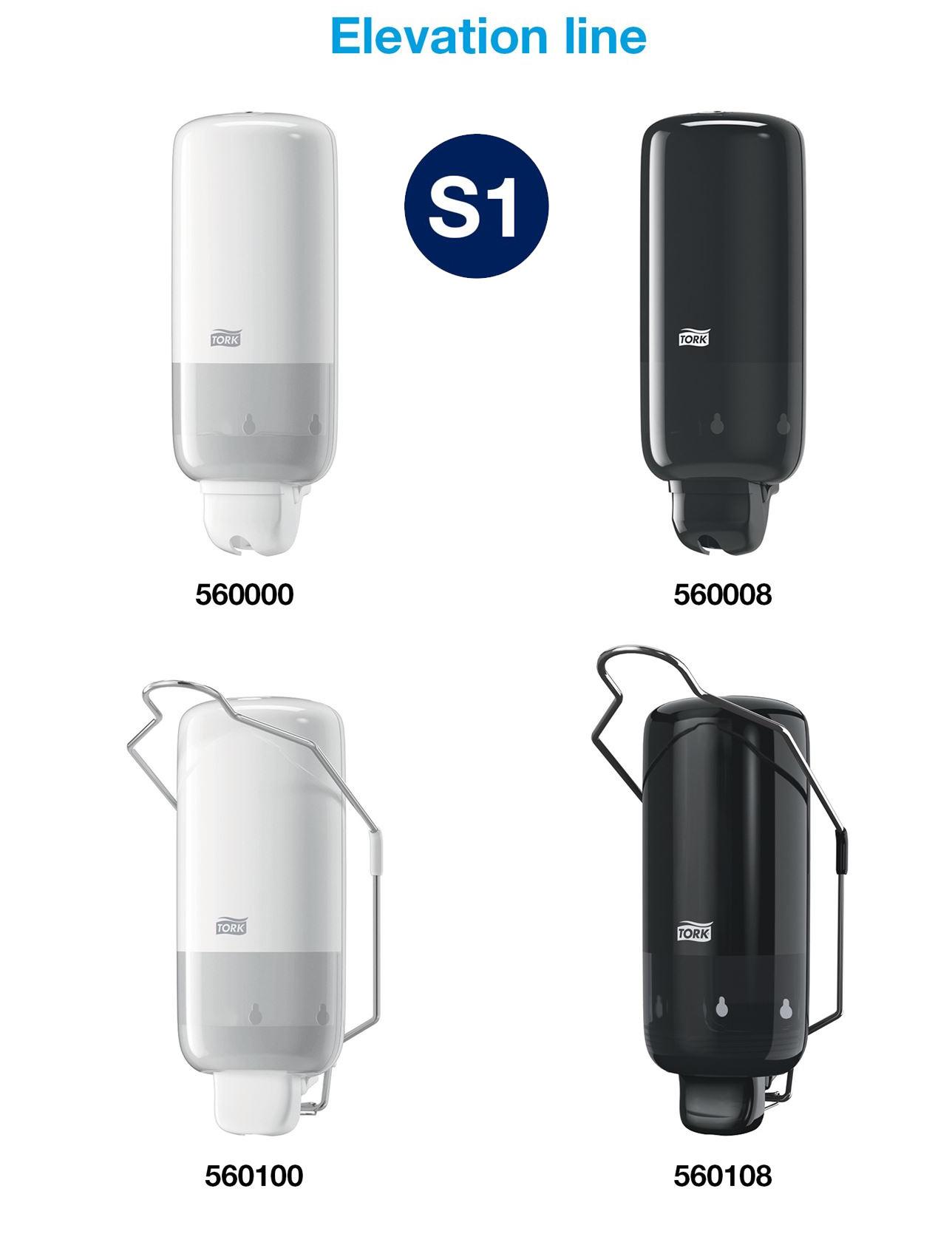 Диспенсер для жидкого мыла с локтевым приводом Elevation, пластик, (S1), черн. Tork - фото 5
