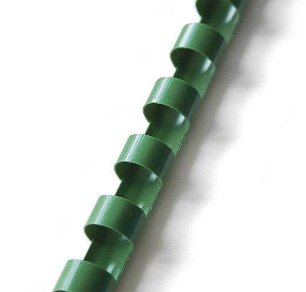 Пружины пластиковые 25мм., 230л., 50шт./уп., зелен. D&Art - фото 2