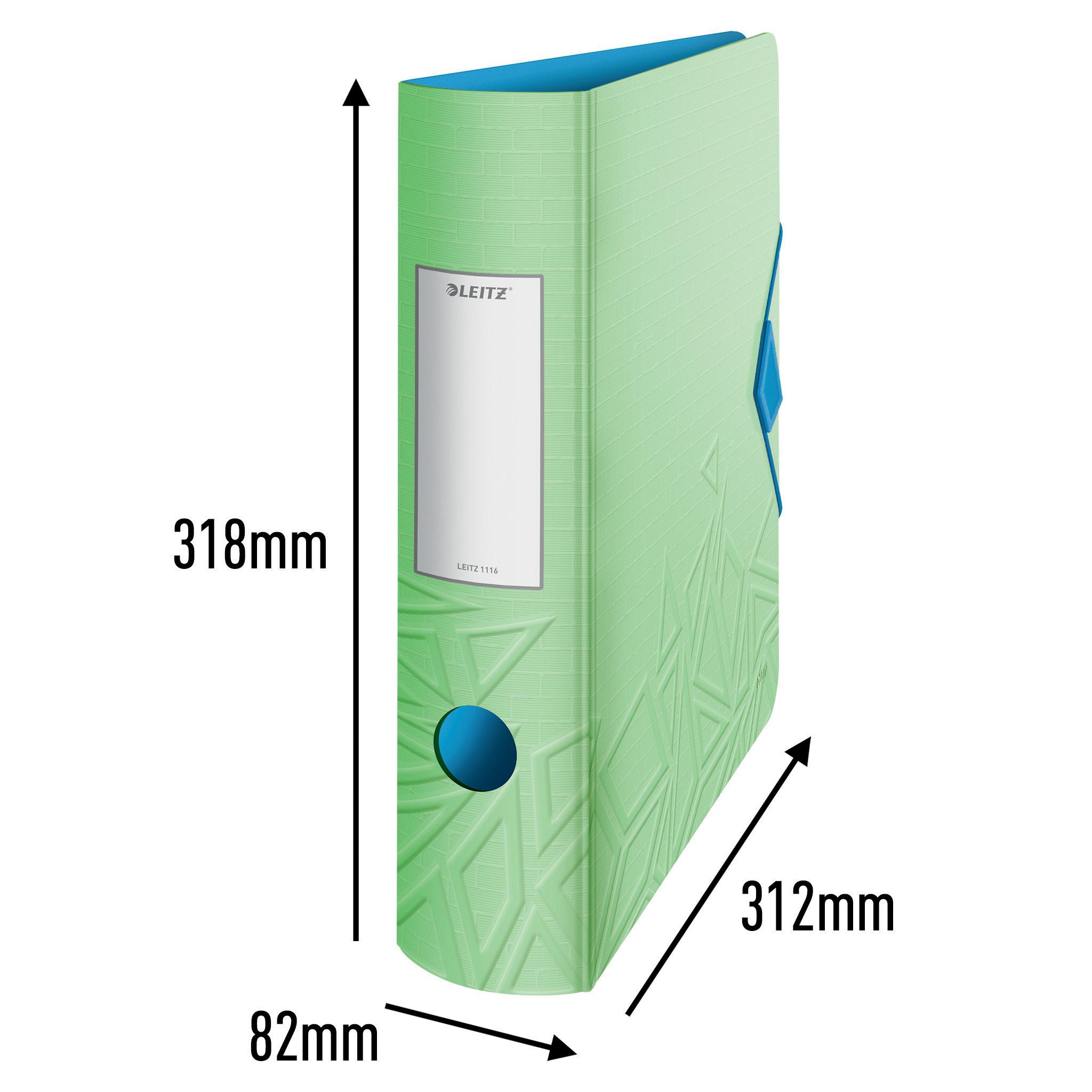 Регистратор 8.2см. А4 (PP) Active Urban Chic 180°, зелен. LEITZ - фото 4