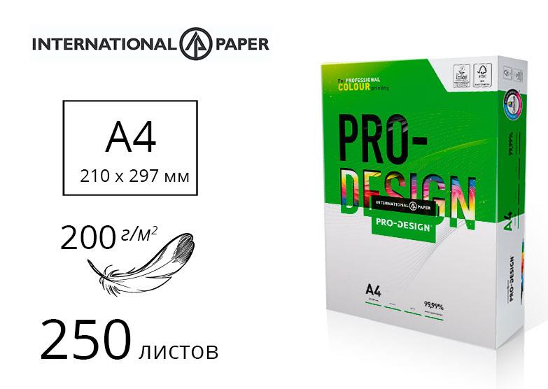 Бумага Pro Design A4 200гр./м2., 250листов International Paper - фото 1