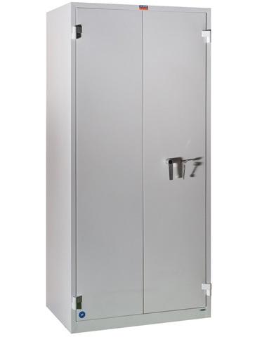 Шкаф огнестойкий 4полки, 2 двери (1950*930*520мм.) метал., замок, серый Valberg - фото 2