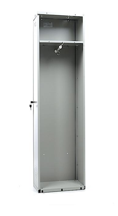 Шкаф для раздевалок, приставная секция (1830*275*500мм) метал., замок, серый Практик - фото 4