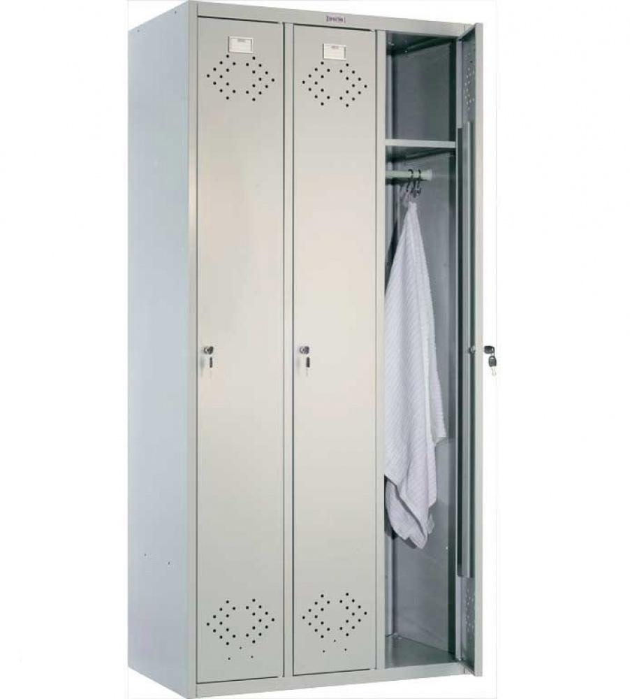 Шкаф для раздевалок, 3 двери, 3 секции (1830*850*500мм) метал., замок, серый Практик - фото 1