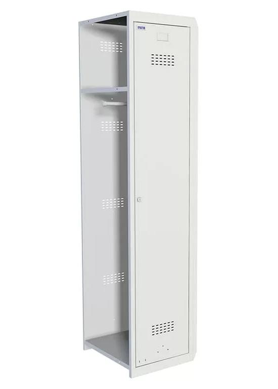 Шкаф для раздевалок, 1 дверь, Усиленный (1830*400*500мм) метал., замок Доп. модуль, серый Практик - фото 2