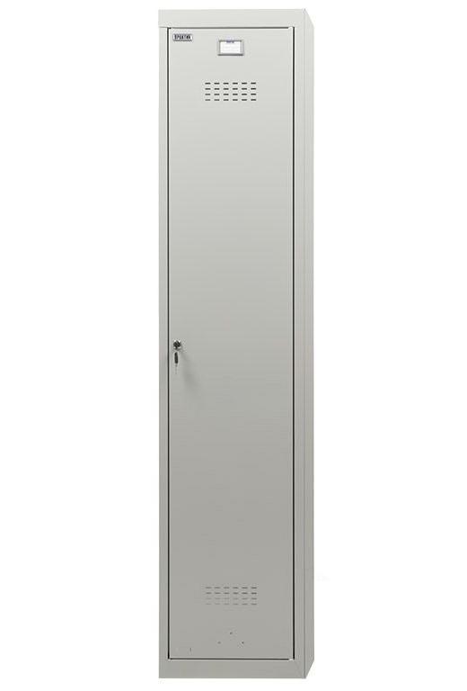Шкаф для раздевалок, 1 дверь, Усиленный (1830*400*500мм) метал., замок Доп. модуль, серый Практик - фото 4