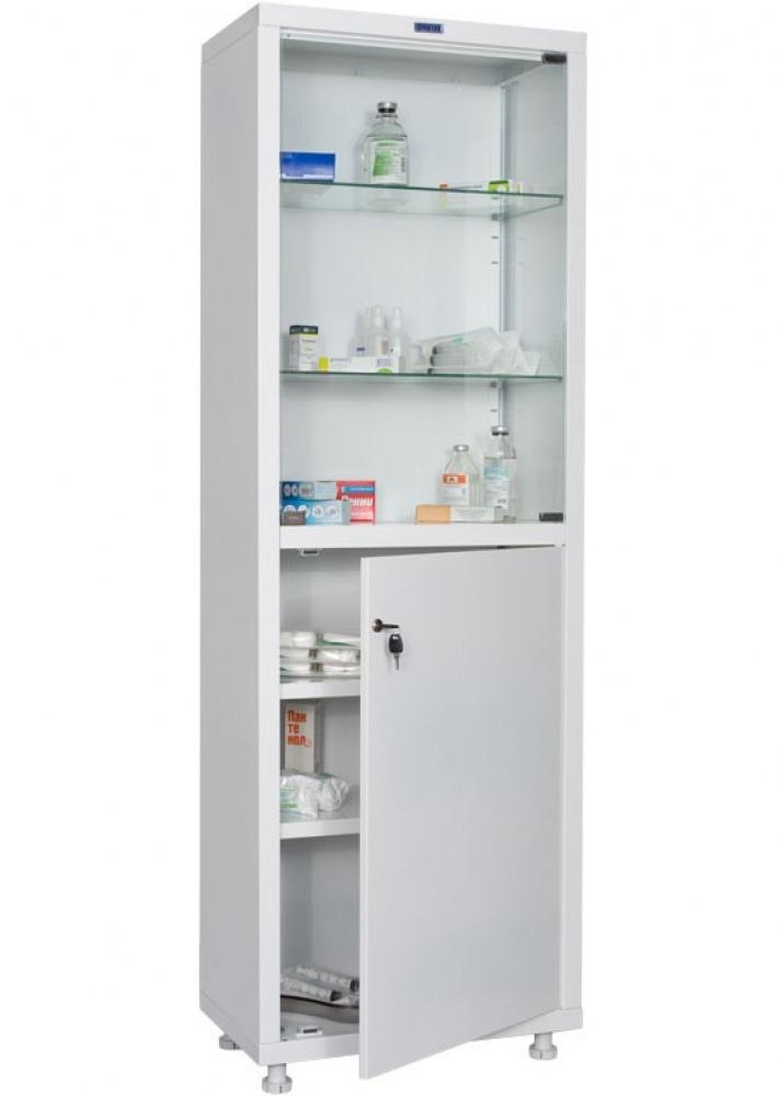 Шкаф медицинский HILFE MD 2 двери, 4 полки (1750/1850*600*400) метал., замок, бел. Hilfe - фото 1