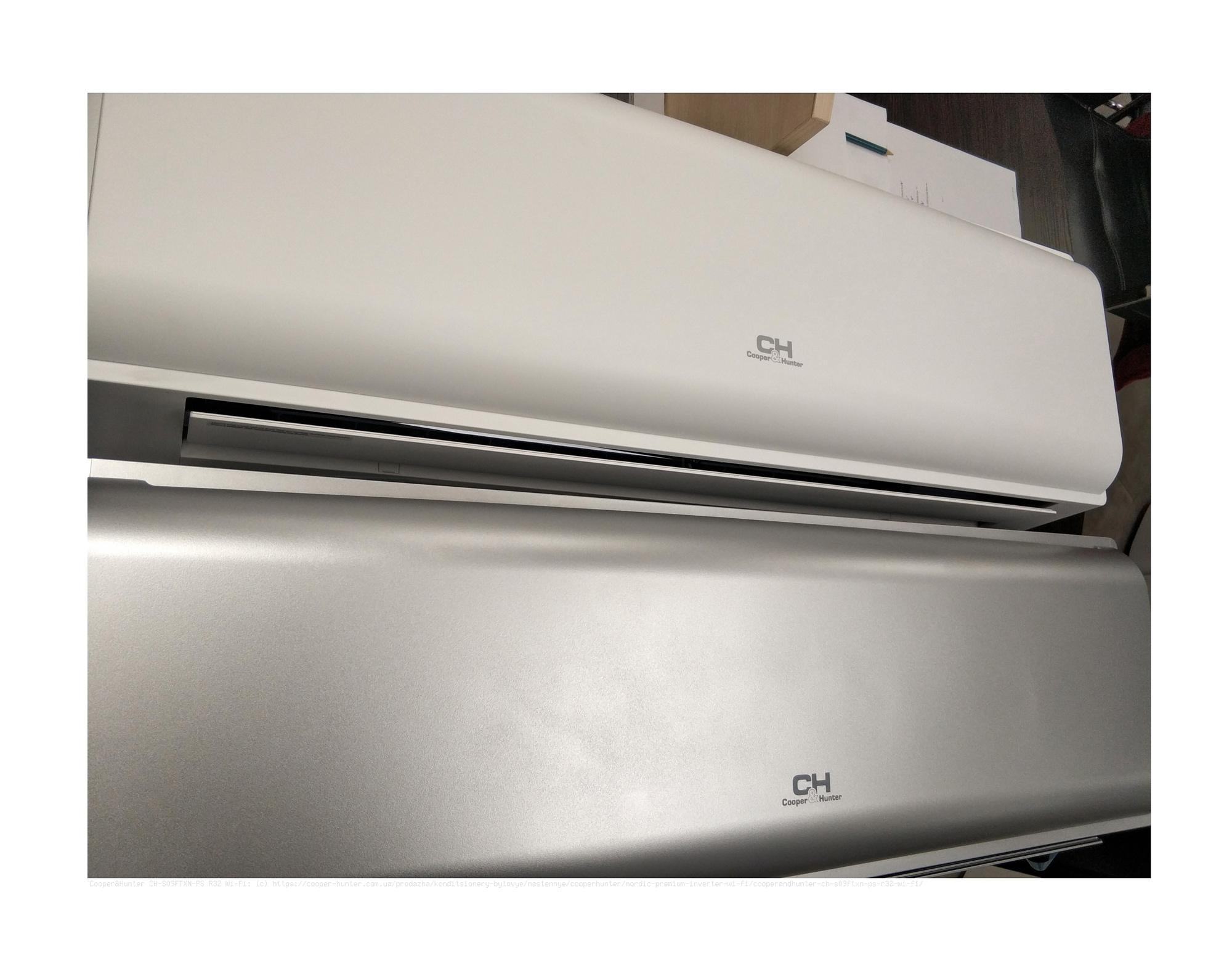 Кондиционер сплит система CH-S09FTXN-PS R32, Wi-Fi, серебр. Cooper&Hunter - фото 2