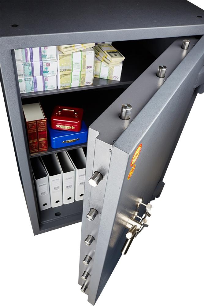 Сейф взломостойкий (990*510*510мм.) два ключевых замка, 2 полки, 2 класс, Bastion-M 99-2K, графит MDTB - фото 2