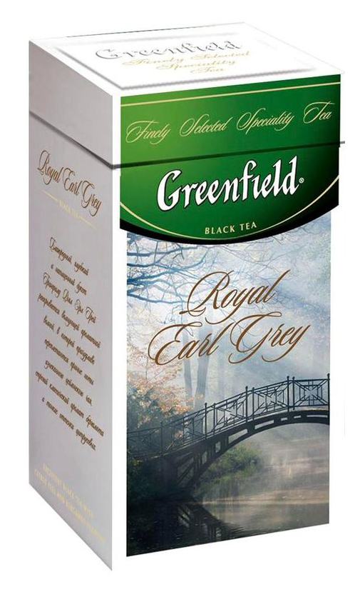 Чай черный ароматизированный Royal Earl Grey 125гр., жестяная банка Greenfield - фото 1
