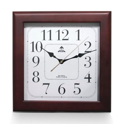 Часы настенные F6420A, квадратные, дерево