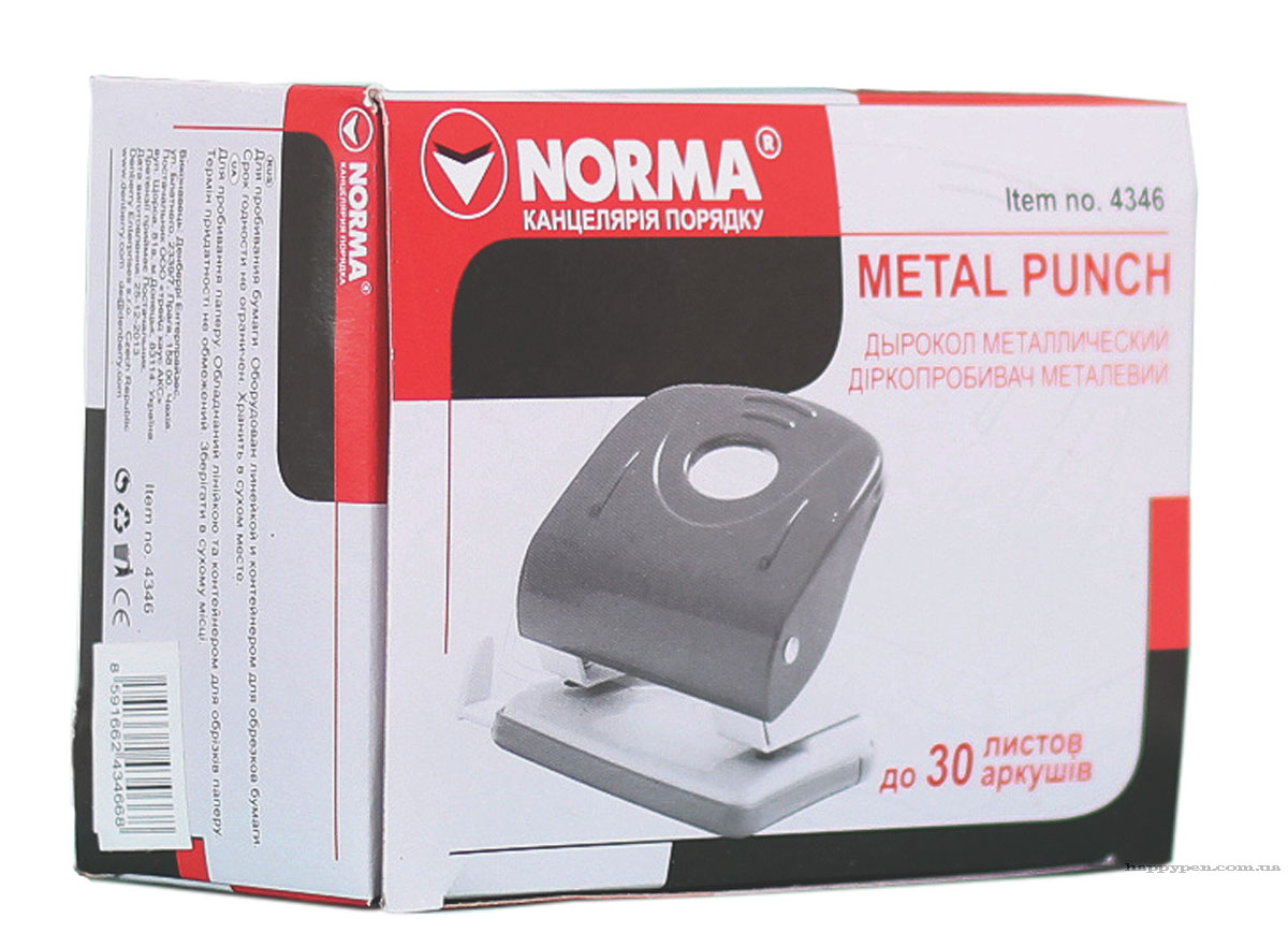 Дырокол средний 30л., металлический черн. NORMA - фото 4